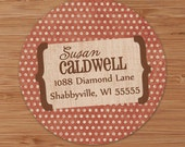 Faded Dots - Custom Address Labels or Stickers