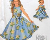 Girls Dress Sewing Pattern UNCUT Simplicity 7110 Sizes 7-14 doll dress Daisy Kingdom