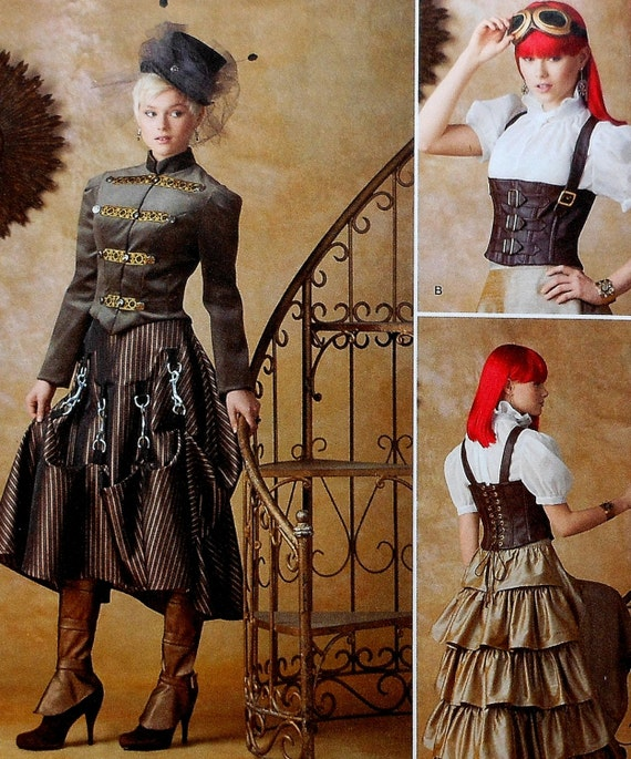 Plus Size Steampunk Cosplay Costume Sewing Pattern Uncut