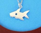 Shark Necklace Shark Jewelry sterling silver Boy necklace Ocean jewelry birthday gift Statement Jewelry shark week