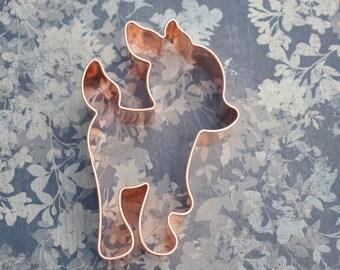 Baby Deer Fawn cookie cutter, ecrandal copper cutter (5x3)
