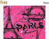 Hot Pink--I Love Paris--Eiffel Tower Fabrics--HARD Find