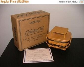 Lovely Longaberger Miniature Cake Basket Set--HARD FIND--Vintage  15% off all 40 dollar and under vintage listings