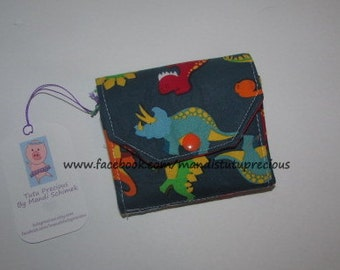 Child's Budgeting Wallet, Child's Wallet, Budgeting Wallet, Child Cash Wallet, Child Budgeting System, Budget System, Dino, Ready to Ship
