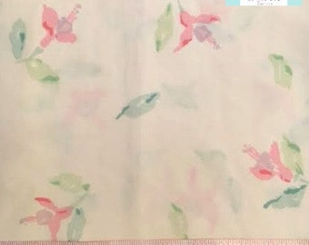 Vintage Pillowcase with Pastel Watercolor Floral