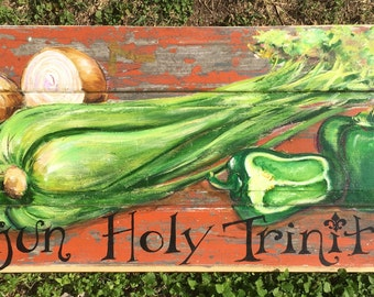 CAJUN HOLY TRINITY** Creole Kitchen Art, Cajun Food, Creole Cooking, Southern Seafood