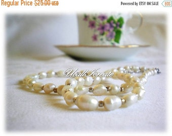 HALF PRICE Pearl Necklace  /Handmade by Me/Gifts For Her