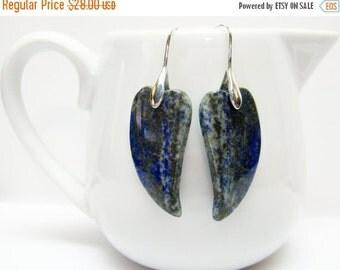 CIJ SALE Lapis Earrings - Gemstone Earrings - Blue Earrings - Fashion Jewelry - Gift for Her - Womens Earrings - Unique Earrings - Chic - Ca