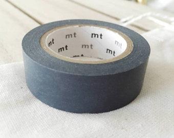 Solid Dark Gray Washi Tape Japanese Dark Gray masking tape (199) - PrettyTape