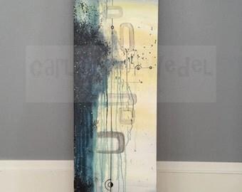 painting | mid century modern | atomic | cosmos | mod | retro | abstract | acrylic | cotton canvas | original | 1950s | 1960s | MCM