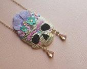 Frida Kahlo Skull Necklace No. 1