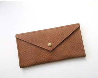 ON SALE Envelope women leather wallet - Brown leather - Leather wallet