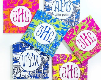 Bright Preppy Chinoiserie Tags