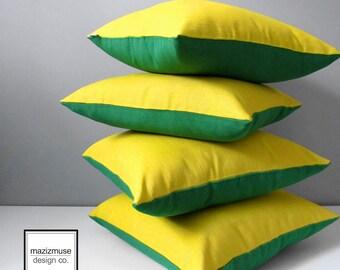 Decorative Outdoor Pillow Cover, Acid Yellow & Green Pillow Case, Modern Throw Pillow Case, Citron Sunbrella Pillow, Yellow Cushion Cover,