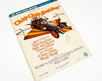 Vintage 1960s Sheet Music / Songs from Ian Fleming's Chitty Chitty Bang Bang Piano Sheet Music 1968 / Music by Richard and Robert Sherman