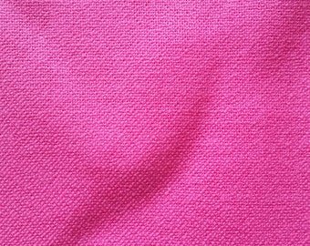2.2m Bright Pink Medium Weight Linen Fabric