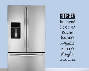 Words for Kitchen - Kitchen Wall Decals