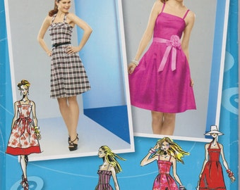 Simplicity project RUNWAY Uncut Sewing Pattern 2176 Misses Dress in Two Lengths Size 4.6.8.10.12
