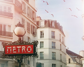 "Paris Photography // Paris Prints // Paris Metro // French decor for a modern Living Room // Large Print  - ""Paris Metro Print"""