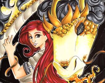 Dragon Lady 8x10 Print