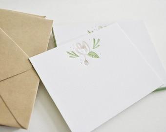 Floral Letterpress Stationery Pack