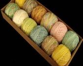 Valdani Perle Cotton Pastels Size 12 Embroidery Thread Sampler