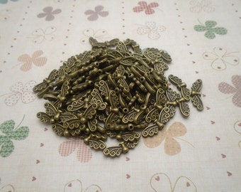 50pcs 20mmx7mm Dragonfly/Dragonfly Wig Antique Bronze Retro Pendant Charm For Jewelry Pendant