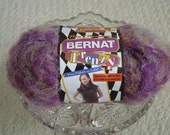 Bernat Frenzy Fuzzy Yarn, Novelty Yarn, Only one ball available