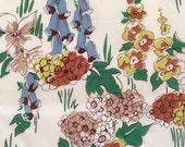Vintage 40s Cotton Lawn Floral Fabric 5 yards
