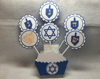 Hanukkah Cupcake Toppers