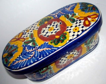 Vintage Oval Mexican Planter