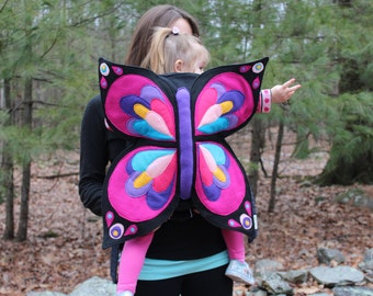 Butterfly Baby Carrier Cover- For Ergo Tula or Bjorn soft structured type carriers