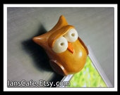 Sculpted Gold/Brown Wise Owl Bookmark with Sophocles Quote