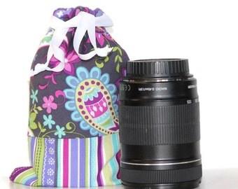 CUSTOM Size for Lenses DSLR camera Drop in Bag (Pouch)