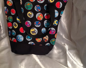 Pokemon Poke ball Insulated Zip-up Lunch bag