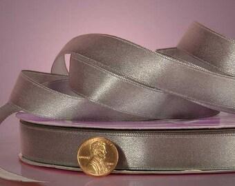 """1/4"""" Satin Ribbon - Silver"""