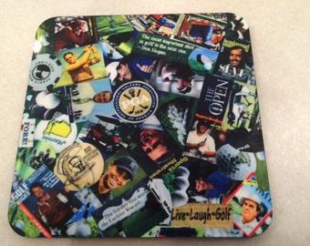 Golf Coaster 4 Piece Set