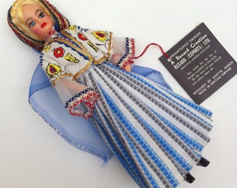 Boxed Miss Switzerland 1960s Vintage Rexard National Costume Miss World Doll