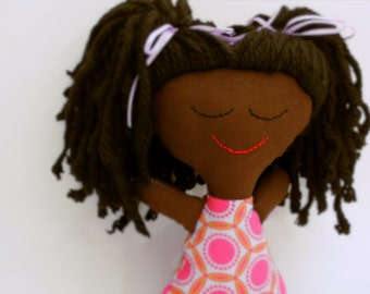 Handmade African American Rag Doll