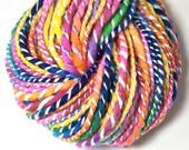 Handspun super, super bulky yarn, 2 ply,  in hand dyed merino wool - 49 yards, 4.8 ounces/136 grams
