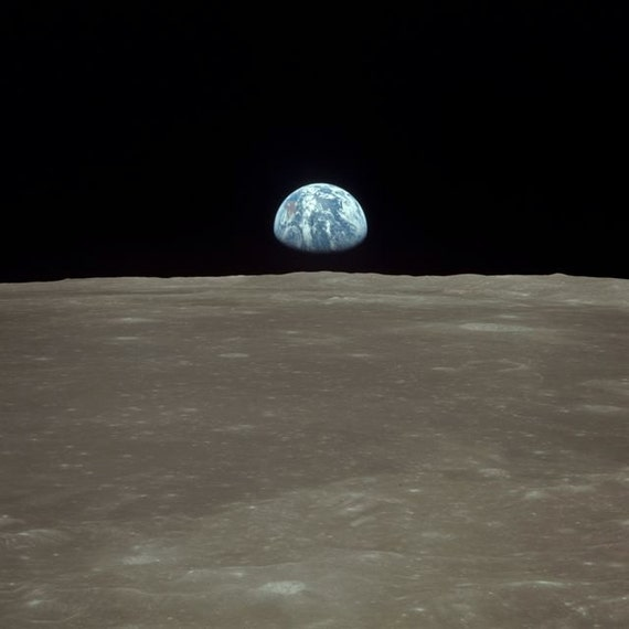 Earthrise over the Moon Apollo 11 View of Earth 1969 Lunar