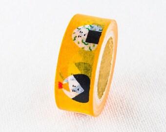 Japanese Washi Masking Tape / 15mm Japanese Rice Ball (Onigiri) for scrapbooking, packaging, party deco, card making