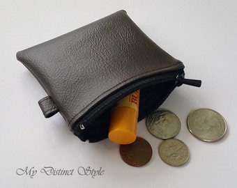 Mini Coin Purse / Faux Leather Coin Purse / Key ring pouch / Water Resistant Coin Purse