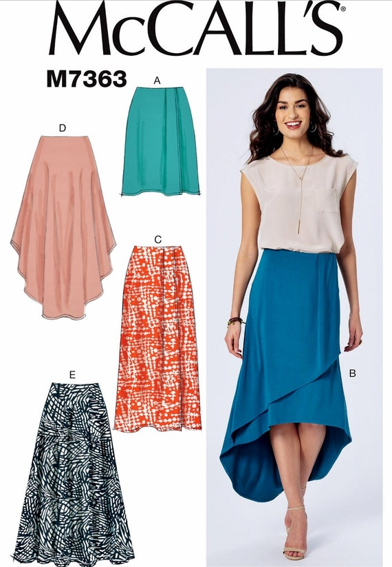 mock wrap skirt pattern high low skirt pattern mccall s