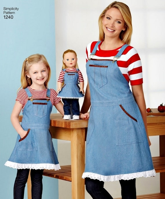 Mommy And Me And Dolly Apron Pattern Mother And Daughter