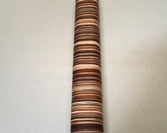 SAORI Pre-wound warp - Brown cotton warp - 200 threads x 6m - Fine cotton threads