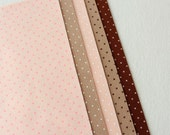 Polka Dot Felt - Peaches and Browns 5 Sheets 6x9