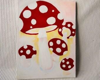 Magical Mushrooms Painting Original Art Piece Wall art