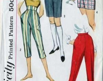 Simplicity 2996 Teen Retro Shorts and Clam-diggers