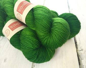 Pure Merino hand dyed sock yarn - Jazz Age green